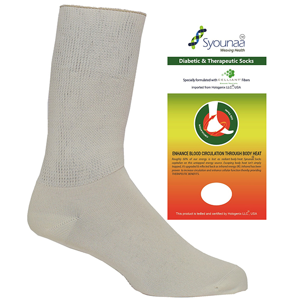 syounaa diabetic socks large and packaging