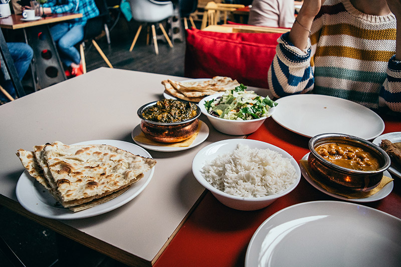 indian food on a table